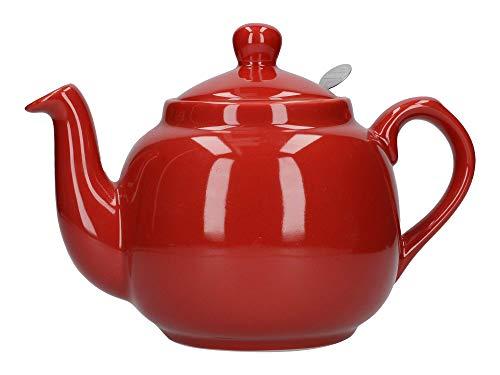 Dexam 17273260 London Pottery - Tetera con Filtro (4 Tazas), Color Rojo