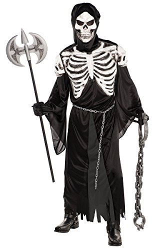 Amscan Adult Crypt Keeper Costume Robe Hat Mask Hood and Chain Belt One Size