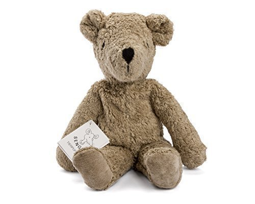 - Senger Stuffed Animals - Teddy Bear - Handmade 100% Organic Toy (Beige - 12 Inches Tall)