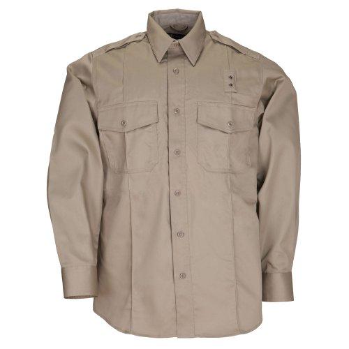Long Sleeve Teflon Twill Shirt - 5.11 #72344 Men's PDU Long Sleeve Twill Class A Shirt (Silver Tan, Large)