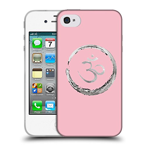 GoGoMobile Coque de Protection TPU Silicone Case pour // Q09170630 Bouddha 35 Rose // Apple iPhone 4 4S 4G