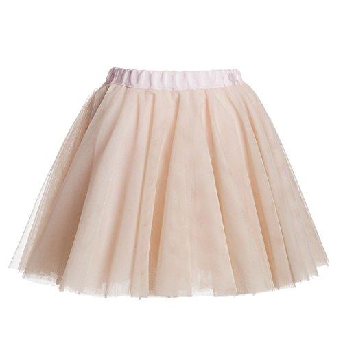 Monnalisa Tulle Skirt 14y pink/beige by Monnalisa