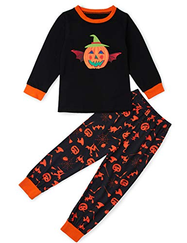 Sheet Set Springs - Little Boys Pajams Pants and Tops Kids Girl Cute Pumpkin Head Long Sleeve Soft Funny 3D Print Novelty Patterns Pjm Sets Comfy Elasti Warm Fall Winter Spring Wear Christmas Sleepwear 4-5 Years Old