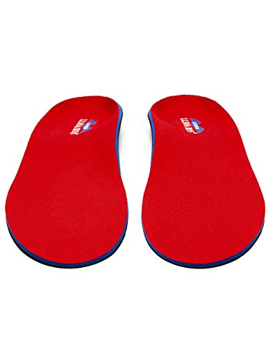 LLSOARSS Orthotic Insoles for Flat Feet - Arch Support Shoe Inserts for Plantar Fasciitis (Men 12-12 1/2, Red) by LLSOARSS (Image #5)