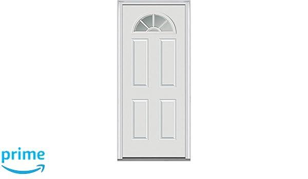 National Door Company Z000284R Fiberglass Smooth Primed  Right Hand  In swing  Prehung Front Door  Wagon Wheel 1 4 Lite 4 Panel  34  x 80   Amazon com   National Door Company Z000284R Fiberglass Smooth Primed  Right  . Front Door Prehung. Home Design Ideas