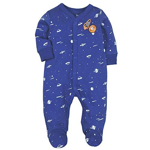 Baby Footed Pajamas Sleeper Girls - Infant Boys Cotton Long Sleeve Jumpsuit Newborn Romper Bodysuit Sleepwear 3M
