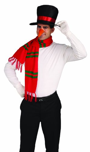 [Forum Novelties Men's Snowman Costume Kit Hat Nose Scarf, Multi, One Size] (Snowman Costume Hat)