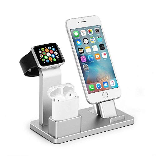 Phone Charging Stand, Moreslan Charging Station Aluminum Charging Docks Multi-Functional Stand Compatible iPhone iPad iWatch Series 2 / Series 1 / iPhone 8 / iPhone 7 / Plus/iPhone 8 / iPhone 6/6