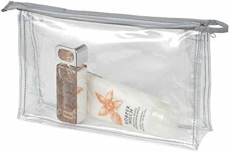 1800177 HALFAR Lot 3 trousses de toilette maquillage pochettes zipp/ées transparentes