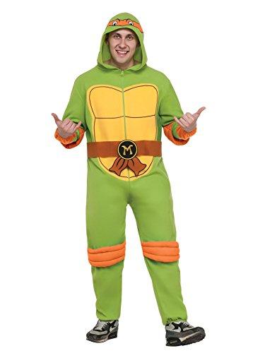 [Teenage Mutant Ninja Turtles Raphael Hooded Jumpsuit] (Adult Raphael Jumpsuit Costumes)