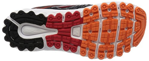 Brooks Glycerin 13 - Zapatillas de Correr para Hombre Black/High Risk Red/Silver