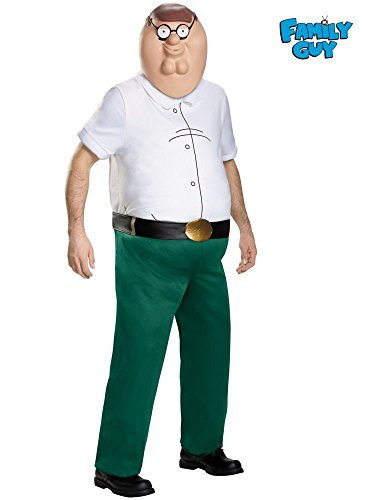 Family Guy Costume, Mens Peter Griffin Deluxe Outfit, X-Large, Chest 42 - 46