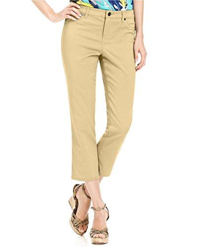 Style & Co. Petite Tummy-Control Cuffed Capri Jeans Size 14/P