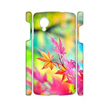 Tyboo Cases For Lg Google Nexus 5 Print With Autumn Scenery Maple Leaves Girl Popular Abs