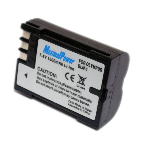 Maximalpower OLY PS-BLM1 1300mah Li-ion Battery for OLYMPUS C-5060wide, CAMEDIA C-5060 Wide Zoom, CAMEDIA C-8080 Wide Zoom, Olympus E-1, Fully Decoded w/ 3yr warranty