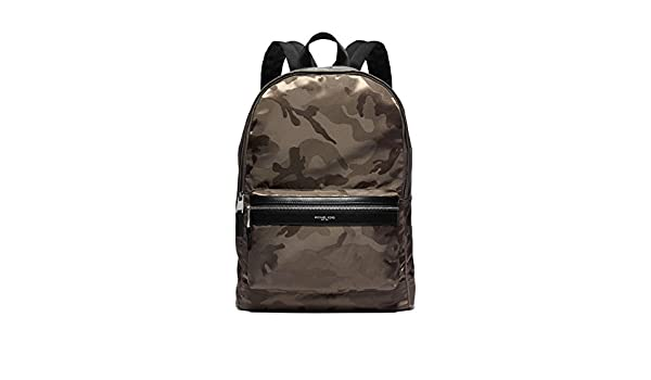 1cab62b09669 MICHAEL KORS MENS Kent Camouflage Nylon Jacquard Backpack (Army):  Amazon.ca: Clothing & Accessories