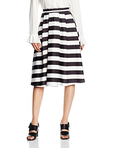 Stripe New Black Donna Patterned black Gonna Bold Look q71E8