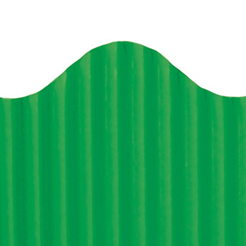 Trimmer 0.25 (Top Notch Teacher Products Corrugated Border, Deep Green, 2 1/4