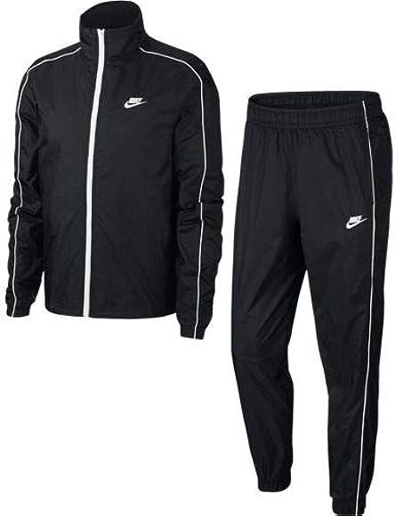 Nike M NSW CE TRK Suit Wvn Basic Chándal, Hombre, Black/White ...