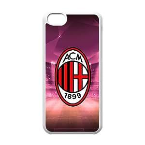 Ac Milan Logo N6H75G8PF funda iPod Touch 6 caso funda SSA528 blanco