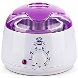 MAKARTT Wax Warmer for Women and Men Electric Hair Removal Wax, Professional Wax Beans Pot Heater Perfect Gifts, Painless & Rapid Waxing of Face, Body, Bikini Area Purple