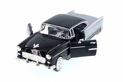 (Motor Max 1955 Chevy Bel Air Hard Top, Black 73229AC/BK - 1/24 Scale Diecast Model Toy Car)