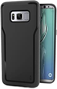 Smartish Galaxy S8+ Grip Case - Kung Fu Grip Lightweight Protective Slim Samsung S8 Plus Cover (Silk) - Black