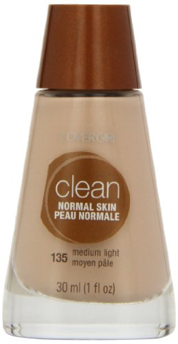 CoverGirl Clean Liquid Makeup, Medium Light 135, 1.0-Ounce Bottles (Pack of ()