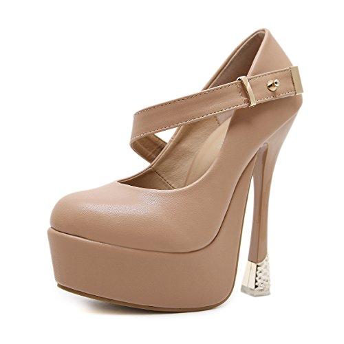 rotonda nero testa PU singoli donne singoli nella impermeabile ZHZNVX pattini con ultra primavera donne 39 nuovo thin una scarpe Testa con metri 40 34 rotonda del qOxHTwaS