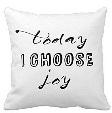 Leiacikl22 TODAY I CHOOSE JOY pillowcase covers