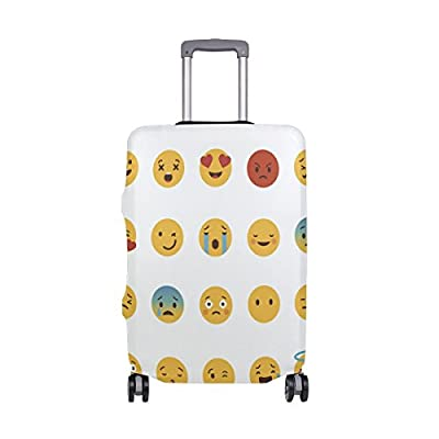 56d45c4cb1e8 Cute Expression Luggage Cover Elastic Suitcase Protector Fits 18-32 ...