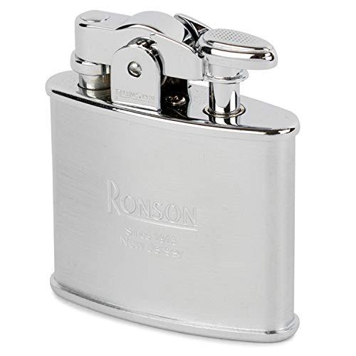 Ronson Standard R02-0026 Nickel Chrome Satin Stylish Design Made in JAPAN Oil Lighter ()