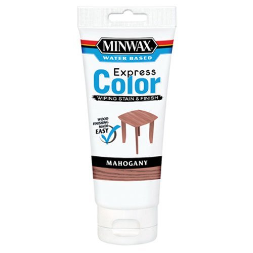 Minwax 308044444  Express Color Wiping Stain and Finish, Mahogany 6OZ