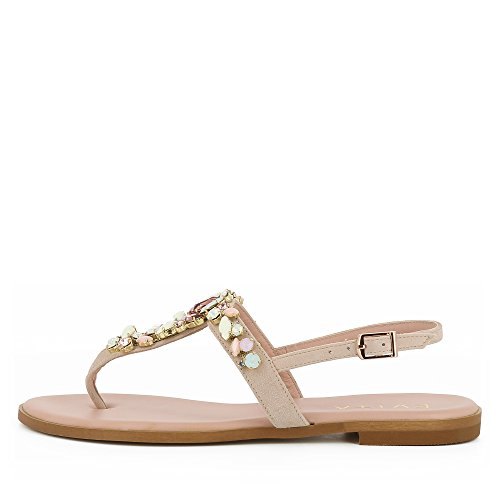 Evita Shoes Olimpia Sandale Femme Daim Rose RnGCI5Vca7