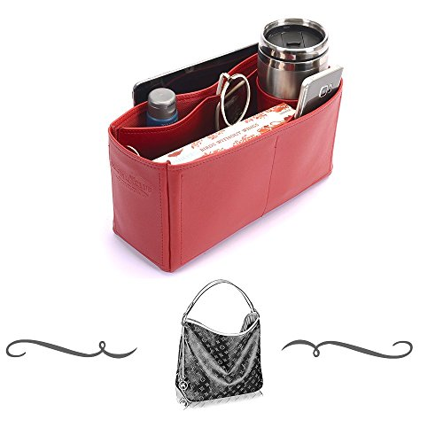Delightful PM (Newest 2015 model) Deluxe Leather Handbag Organizer, Leather bag insert for LV Delightful PM , Express Shipping