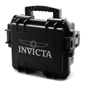 Invicta IG0097-SMIS-B 3 slot Black Plastic Watch Box Case