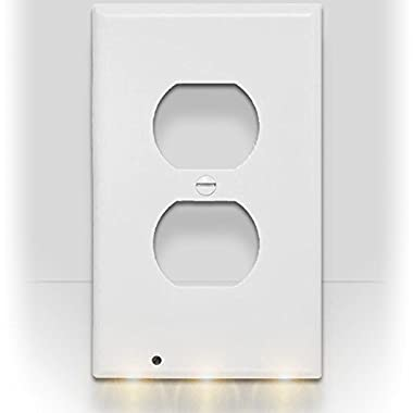 SnapPower Guidelight - Outlet Coverplate with LED Night Lights (Duplex, White)