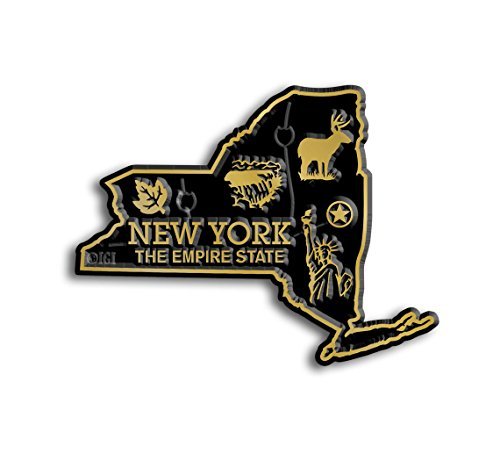 New York State Map Magnet (Refrigerator New Magnet York)