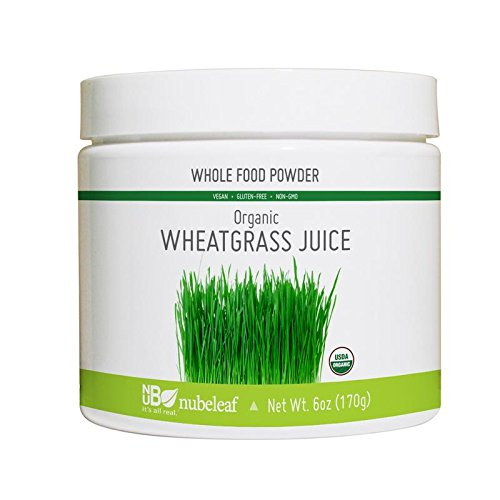 Nubeleaf Wheat Grass Juice Powder - Non-GMO, Gluten-Free, Organic, Raw, Vegan Source of Essential Vitamins & Minerals - Single-Ingredient Nutrient Rich Superfood for Cooking, Baking, Smoothies (6oz)