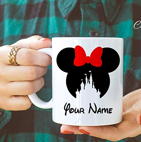 Holiday Mouse Mickey Personalized (Disney Personalized Mug, Personalized gift, personalized cup, custom mug, Mickey mug, Minnie Mug, Micke Mouse, Teacup, 11oz, 15oz, gift)