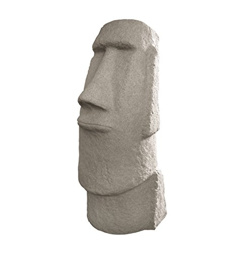 """EMSCO Group Easter Island Head Statue - Natural Granite Appearance - Made of Resin - Lightweight - 28"""" Height"""