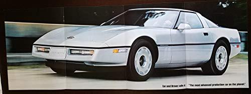 (Original Magazine Print Ad Poster: 1984 Chevy Corvette C4, 11 X 31 inches,