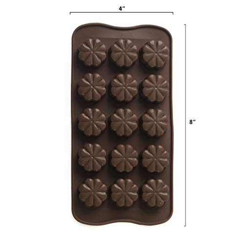 6 Pack Silicone Candy Molds + EBook With 5 Candy Recipes - Silicone Molds For Fat Bombs - Candy Molds Silicone - Chocolate Molds Silicon Molds Candy Mold Silicon Mold Hard Candy Molds Fat Bomb Molds by Mighty Cleaner (Image #2)
