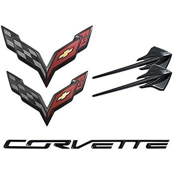 Amazon.com: 2014-2019 Chevrolet C7 Corvette Carbon Flash Emblem Kit 23465587: Automotive