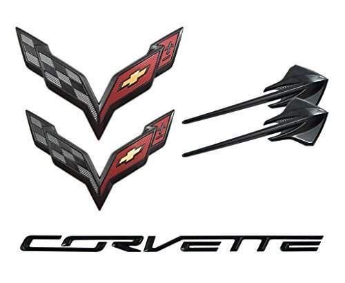 2014-2019 Chevrolet C7 Corvette Carbon Flash Emblem Kit -