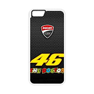 Valentino Rossi 001 iPhone 6 4.7 Inch Cell Phone Case White Tribute gift PXR006-7634690