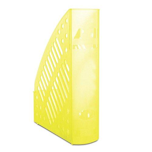DANUBIO 7462188pl-11Portariviste, traforato, polistirolo, A4, colore: giallo trasparente PBS Connect Polska Sp. z o.o.
