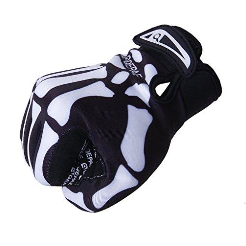 Pour Cyclisme Extérieur Andyshi Motif Squelette Homme Gants Complète Sport De Doigt 6xqdq8wP