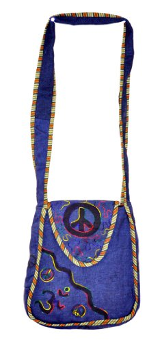 Mandala Tibetan Shop Bohemian Om Peace Symbol Shoulder Bag, Monk Bag, #77, Bags Central