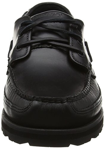 Sebago Herren Vershire Three Eye Bootschuhe, Hautfarben, Auditors Target Value Schwarz (Black Oiled Waxy Lea)